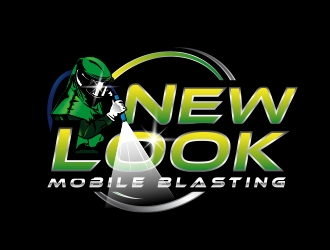 New Look Mobile Blasting logo design