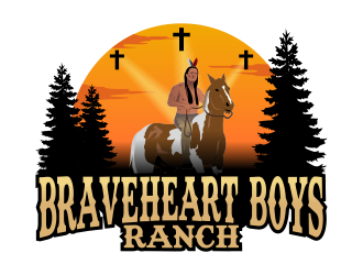 Braveheart Boys Ranch logo design