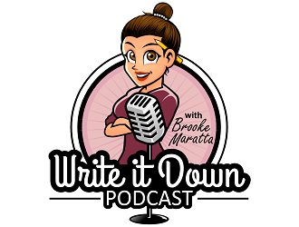 Write That Down Podcast with Brooke Maratta logo design