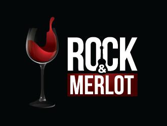 Rock n Merlot logo design