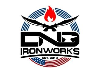 DnD Ironworks logo design