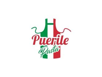 Puerile Pasta logo design by Rock