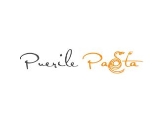 Puerile Pasta logo design by ROSHTEIN