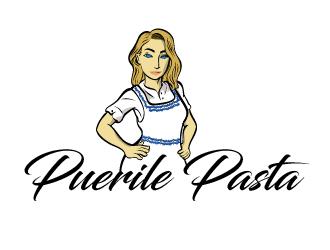 Puerile Pasta logo design by justin_ezra