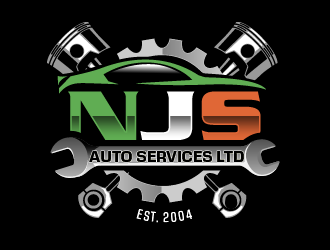 NJS Auto Services Ltd logo design