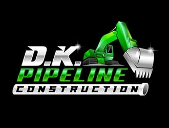 DANIEL  KILGORE PIPELINE CONSTRUCTION  logo design