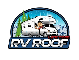 Lifetime RV Roof logo design