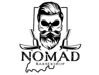 Nomad BarberShop logo design winner