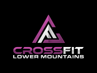 Crossfit lower mountains logo design