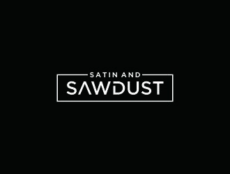 Satin and Sawdust logo design by bricton