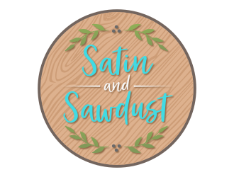 Satin and Sawdust logo design