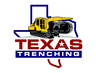 Texas Trenching  logo design