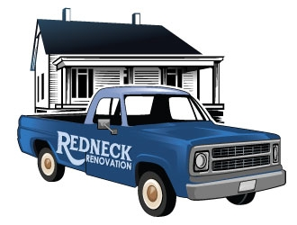 Redneck Renovation logo design