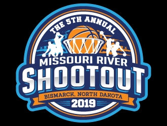 Missouri River Shootout  logo design