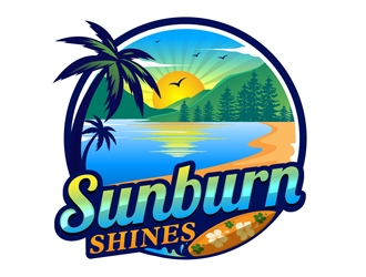 Sunburn Shines logo design