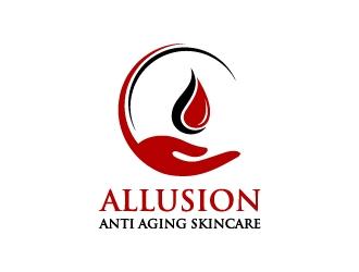 Allusion Anti Aging Skincare logo design
