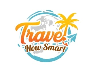 Travel Now Smart logo design