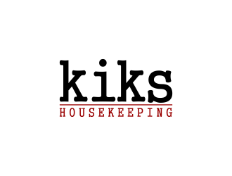 Kiks Housekeeping logo design by deddy