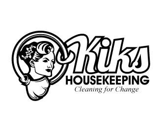 Kiks Housekeeping logo design by desynergy