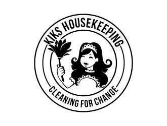 Kiks Housekeeping logo design by ROSHTEIN