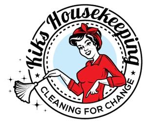 Kiks Housekeeping logo design by gogo