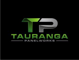 TAURANGA PANELWORKS  logo design