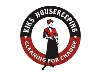 Kiks Housekeeping logo design by gitzart