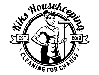 Kiks Housekeeping logo design by haze