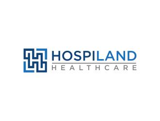 Hospiland Healthcare logo design