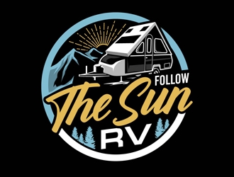 Follow the Sun RV logo design
