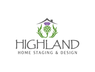 Highland Home Staging & Design logo design