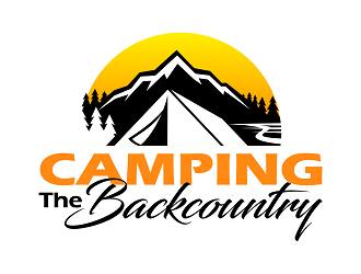 Camping the Backcountry logo design