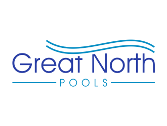 GREAT NORTH POOLS logo design