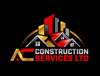 AC Construction Services ltd logo design