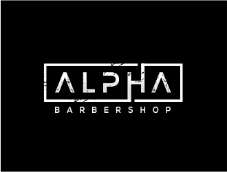 Alpha Barbershop logo design