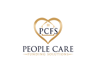 People Care Funding Solutions, LLC DBA PCFS logo design