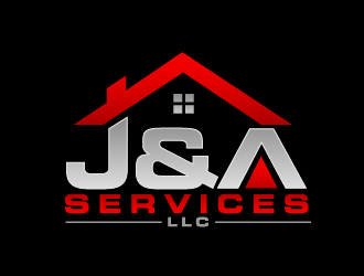 J&A Services logo design