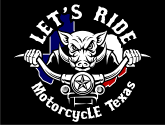 Let's Ride - MotorcycLE Texas logo design