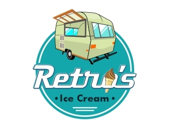 Retros Ice Cream logo design