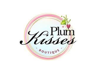 Plum Kisses logo design