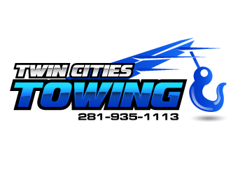 Twin cities towing  logo design