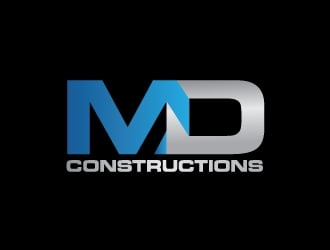 MD Constructions logo design