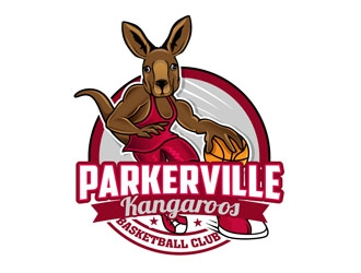 Parkerville Kangaroos Basketball Club logo design