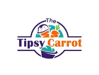 The Tipsy Carrot  logo design
