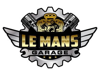 Lemans Garage logo design