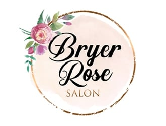 Bryer Rose Salon logo design