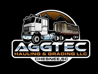AggTec Hauling & Grading LLC logo design