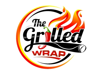 The Grilled Wrap logo design
