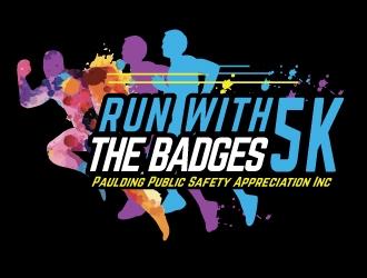 Paulding County Public Safety Appreciation INC Glow Run  logo design