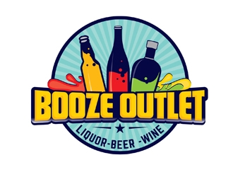 Booze Outlet       Liquor - Beer - Wine logo design